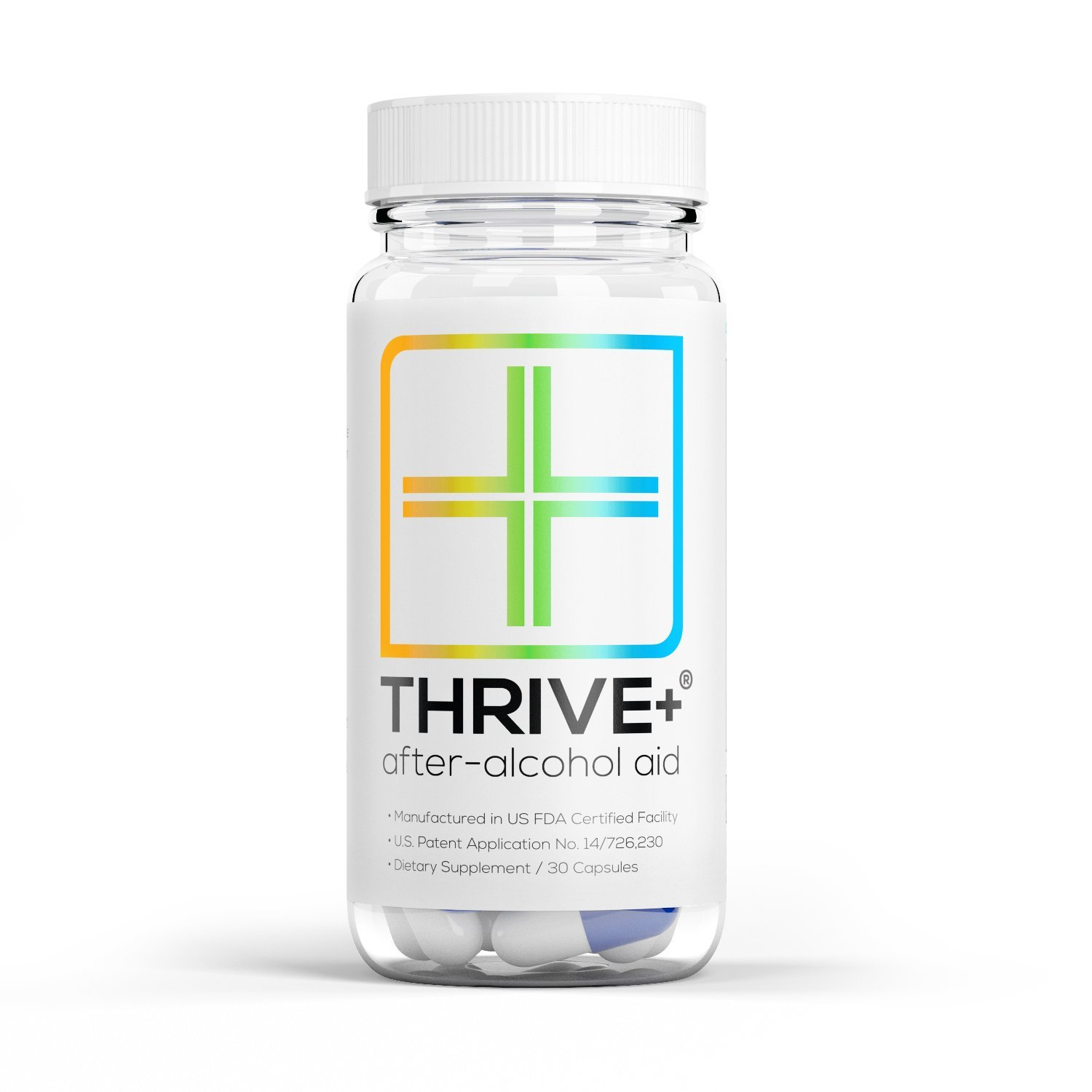 "After-Alcohol Aid by Thrive+ | As Seen on Shark Tank - A''Vitamin"" for Healthier & Happier Alcohol Consumption (30 Capsules) - for Fast Alcohol Detox & Recovery After Drinking Alcohol."