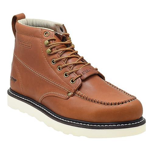 caf57190c40 Golden Fox Steel Toe Work Boots Men's 6