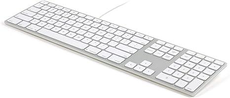 Cable Technologies Teclado Matias Wired Aluminum RGB Backlit Keyboard Silver (Layout Ita) con Hilo, Teclado Gaming en Aluminio con Control Luminosidad ...