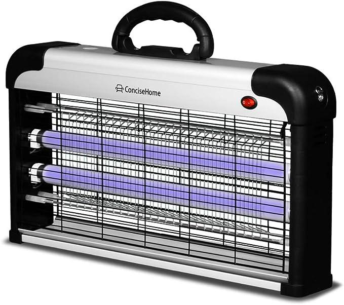 Concise Home XHY-20EU-2 lámpara Anti-Mosquitos UV Mata Moscas triturador de Insectos eléctrico, Anti Mosquitos al Aire Libre Plata 20W(2x10W)
