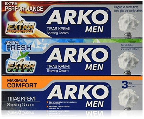 Arko Shaving Cream Variety Pack, Extra Fresh/Extra Performance