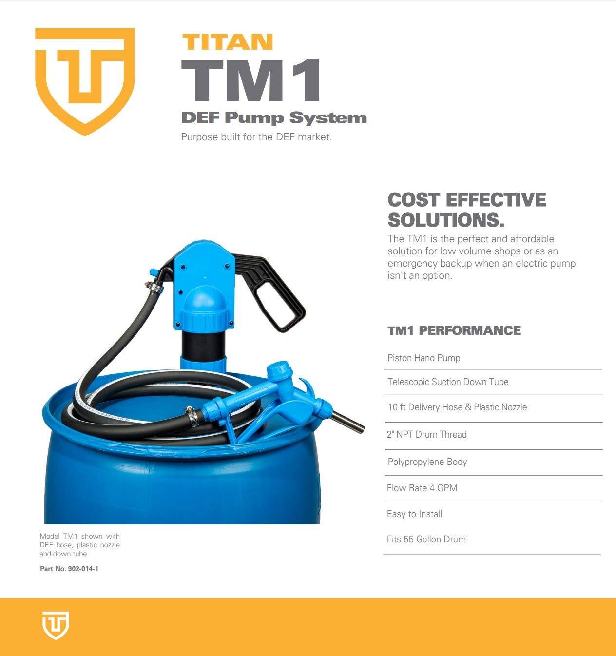 Titan 902-014-1 TCT TM1 Manual Pump with Hose and Nozzle, Plastic by Titan (Image #2)
