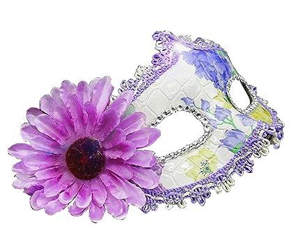 Alien Storehouse Máscara de Mascarada máscara Mascarada Mascara Veneciana con Flor, Púrpura