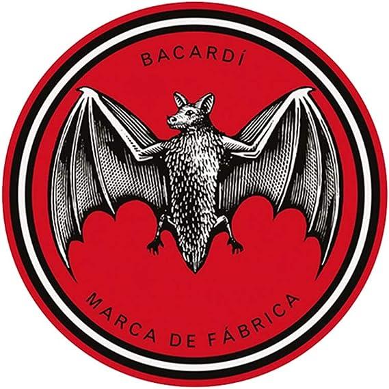12cm x 12cm BACARDI Sticker Decal Ron Alcohol Car Bat Bumper ...