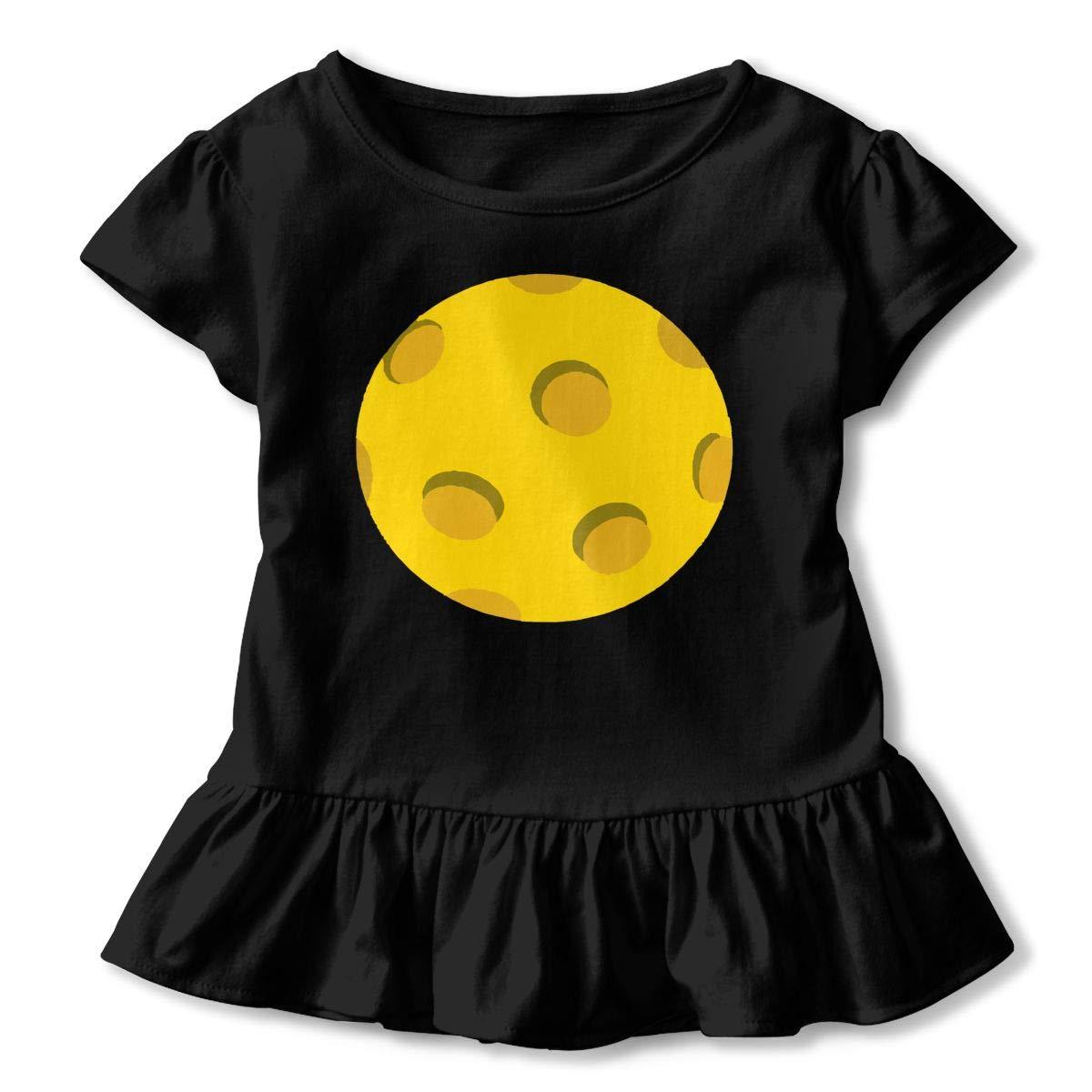 2-Pack Cotton Tee Pickleball Baby Girls Short Sleeve Ruffles T-Shirt Tops