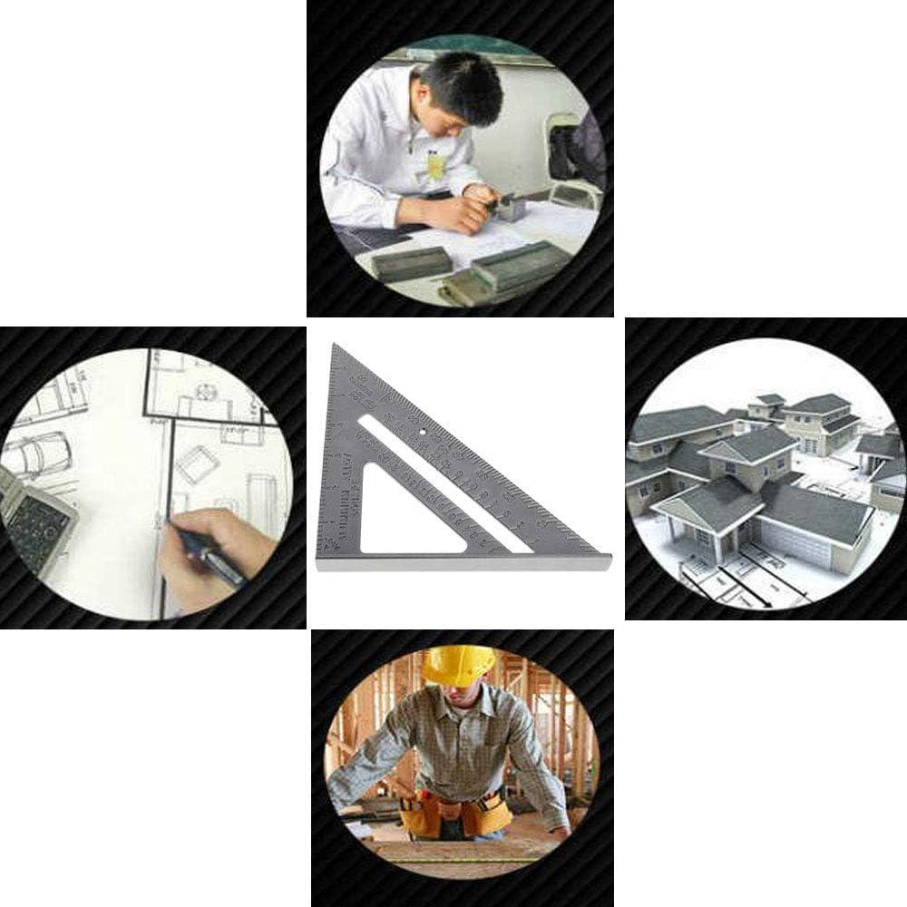 Para Techo Herramientas Con Acabado Goni/ómetro de Regla 7 Pulgadas Regla Triangular Cuadrad /Ángulo de Tope Imperial Construcci/ón Transportador Triangular