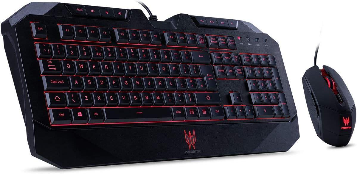 ACER Juego de teclado y ratón para juegos de PREDADOR