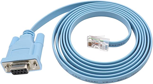Amazon.com: Cisco Console Cable 9-pin DB9 Female Serial RS232 Port to RJ45 Male Cat5 Ethernet LAN Rollover Console Cable Switch Cable Cisco: Computers & Accessories
