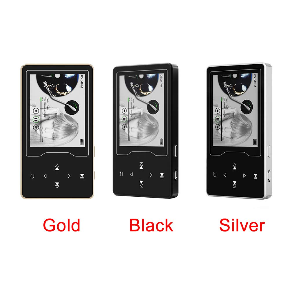 MP3 Player with Bluetooth 4.2, 8GB Portable Lossless Sound Music Player with FM Radio Recorder Touch Button Music Speaker,Support up to 128GB (Gold) by Lovt (Image #8)