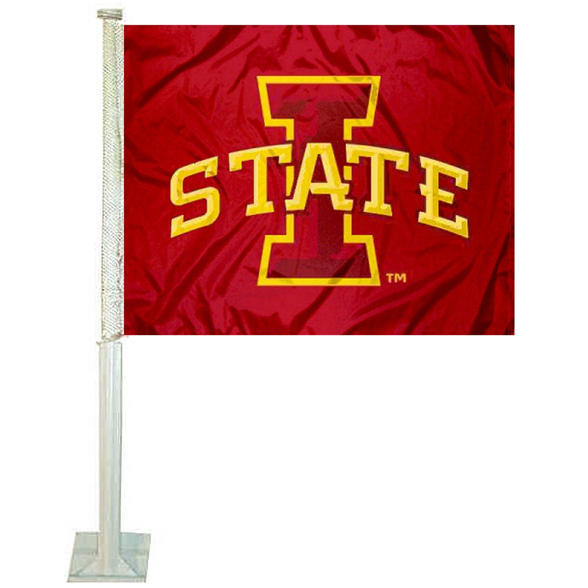 College Flags and Banners Co. Iowa State Cyclones Car Flag