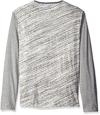 Calvin Klein Jeans Men's Long Sleeve Color Block Henley Shirt