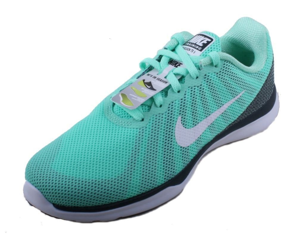 NIKE Women's in-Season TR 6 Cross Training Shoe B01DL3XU54 5 B(M) US|Green Glow/White/Urban Lilac