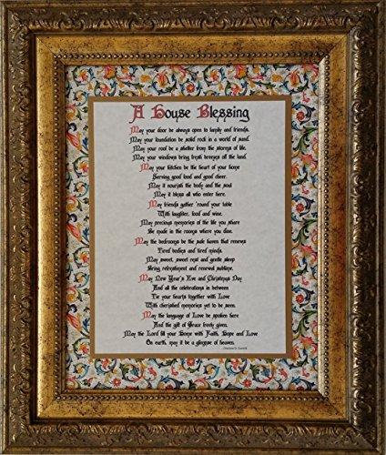 House Prayer Blessing - A House Blessing - Inspirational Framed Prayer - Wedding, Anniversary, or Housewarming Gift