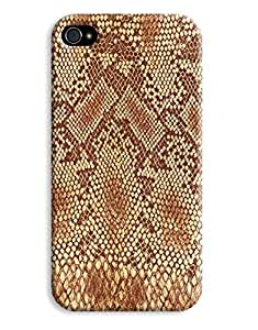 Brown Snakeskin Case for your iPhone 4/4s