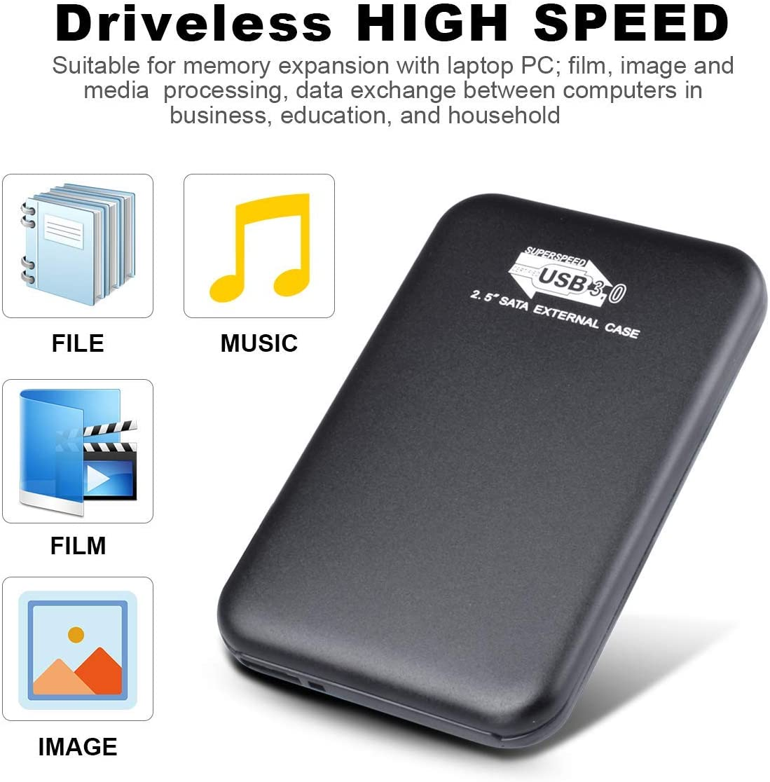 2TB, Black Laptop 1TB//2TB Portable External Hard Drive Ultra Thin External HDD USB 3.0 Hard Drive Compatible for PC Xbox 360 Mac,Desktop Xbox One PS4