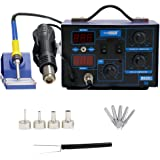 VIVOHOME 2 in 1 110V 862D SMD Soldering Iron Hot Air Rework Heat Gun Solder Station with 4 Nozzles