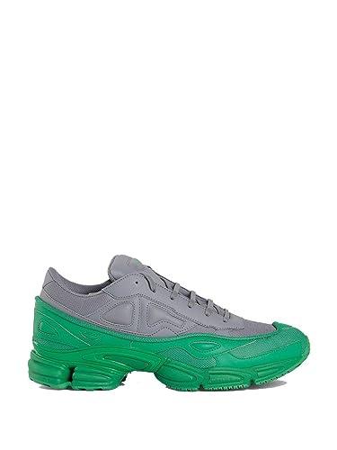 7dd9f7f4811fb adidas by RAF Simons Men's F34266 Grey/Green Leather Sneakers ...