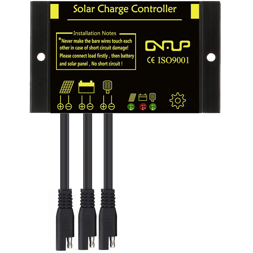 SUNER POWER Waterproof 10A Solar Charge Controller - Intelligent12V/24V Solar Panel Battery Regulator by SUNER POWER