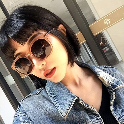Generic Send new retro matte metal mirror box brown sunglasses large frame co paragraph thin Beautiful sunglasses by Generic