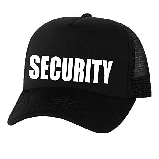 46a8dae8dad SECURITY Truckers Mesh snapback hat in Black - One Size at Amazon ...