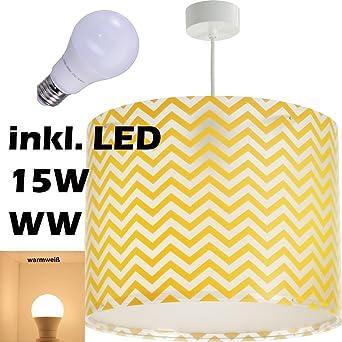 AuBergewohnlich LED Lampe Kinderzimmer Decke Pendelleuchte Streifen 42662 Warmweiß 1600lm  Mädchen U0026 Jungen