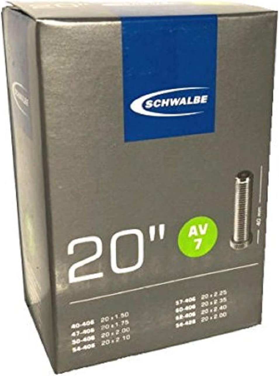 """27.5/"""" Bike Inner Tube Schwalbe Av12 27.5X1.35-1.75/"""" 40Mm Schrader Black"""