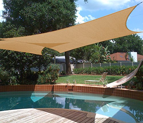 Shade&Beyond 10'x13' Rectangle Sun Shade Sail Canopy for Patio with D rings (Breeze Pergola)
