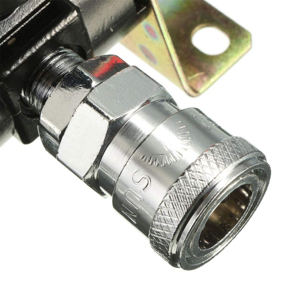hgfter Presi/ón Filtro de aire Regulador Compresor Trampa de humedad Aceite Lubricador de agua para sistema de aire comprimido con racor