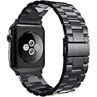 Simpeak Band Compatible with iWatch 42mm 44mm, Match 2pc Links, Stainless Steel Wirstband for iWatch Series 5 4 3 2 1…