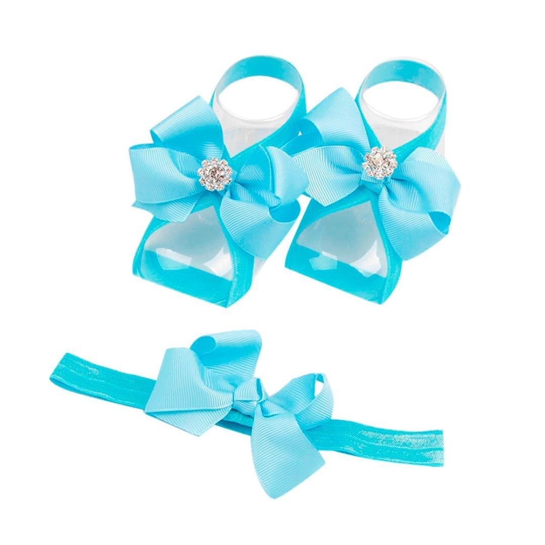 Clode® Stirnband Baby Neugeborenes Baby Kind Säuglingsstirnband Fuß Blumen elastisches Haar Band Zusätze FX602048