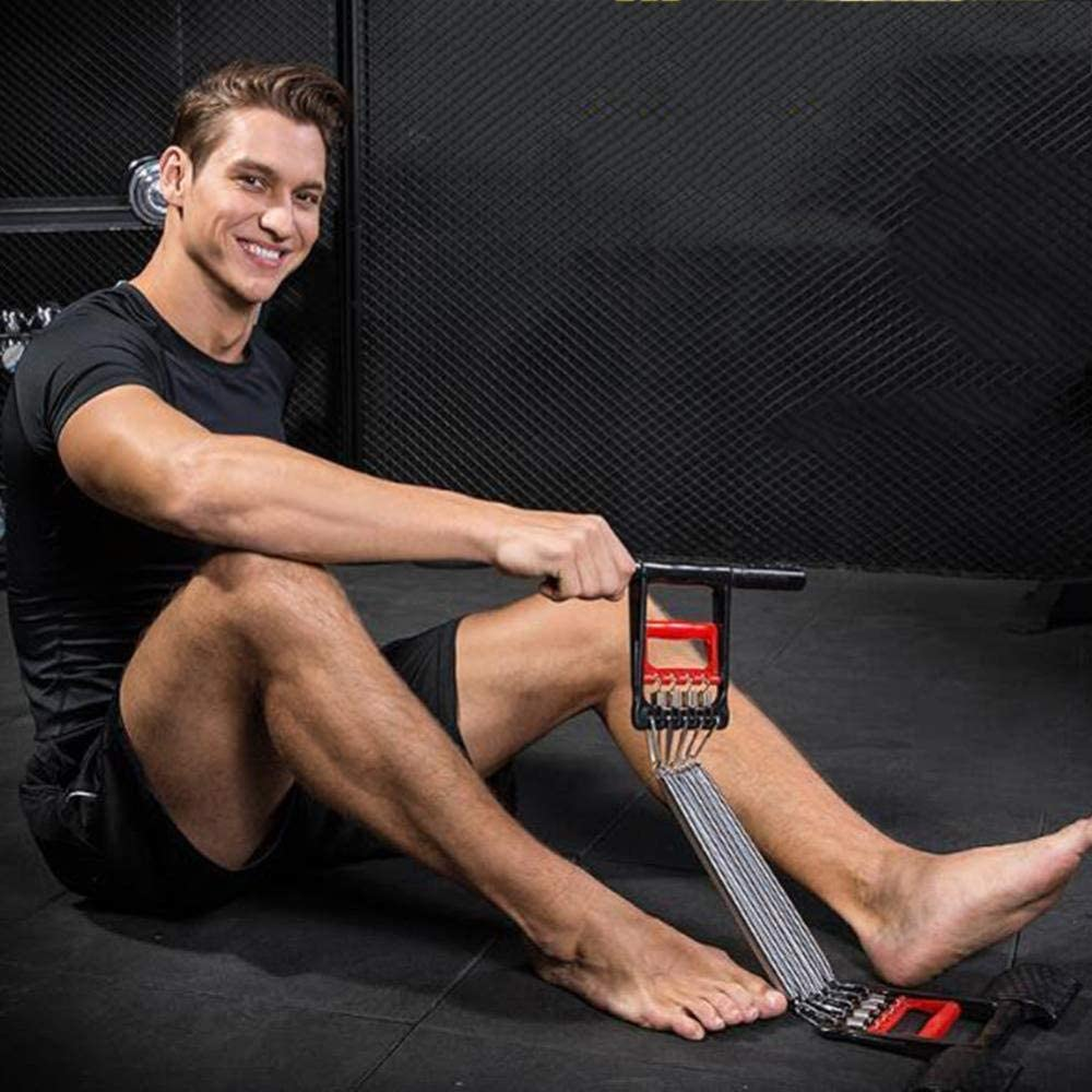 Stahlfeder Einstellbare Spannung Abnehmbare Stange Multifunktions-Fitnessger/äT 3 In 1 Alianfrwe Expander Fitness Brust Expander