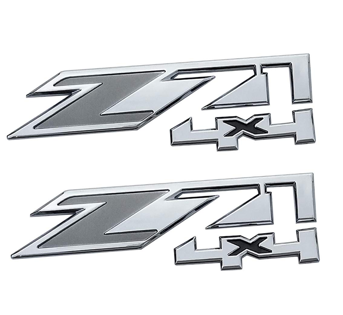 Chrome red Yuauto 2 Pack Z71 4x4 Emblems Badges for GMC Chevy Silverado Sierra Tahoe Suburban 1500 2500hd 3500hd Decal