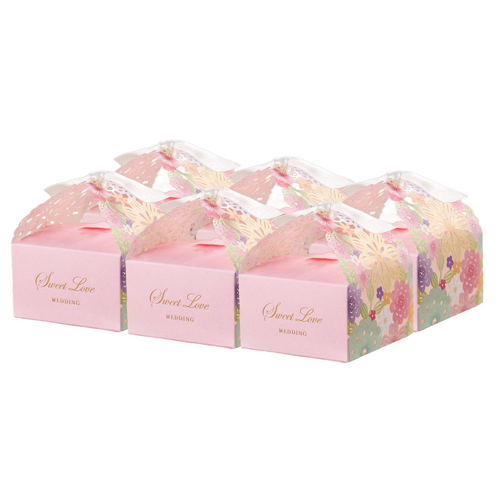 Amazon.com: LUOEM Wedding Favor Candy Box Kits,Laser Cut Bird Favor ...