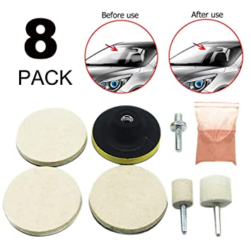 Lusenbo Polishing Pads Sponge Kit,Buffing Pads Waxing Pads with Drill Adapter for Car Polisher 12pcs
