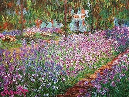 EuroGraphics Le Jardin De Monet A Giverny By Claude Monet. The Garden. Art  Print