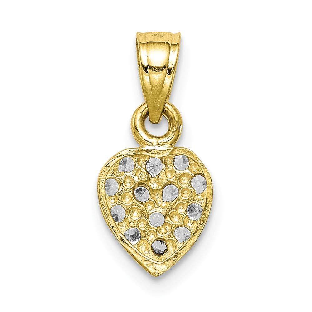 10k Yellow Gold CZ Heart Pendant