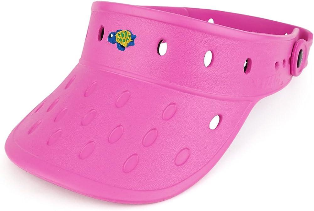 Trendy Apparel Shop Durable Adjustable Floatable Foam Visor Hat with Turtle Snap Charm