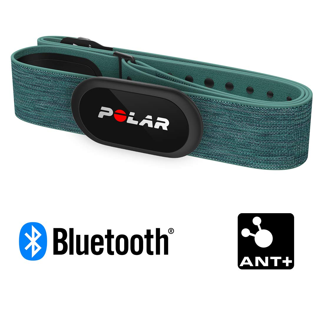 Bluetooth M-XXL Unisex Polar H10 Herzfrequenz-Sensor Wasserdichter Herzfrequenz-Sensor mit Brustgurt ANT+ EKG T/ürkis