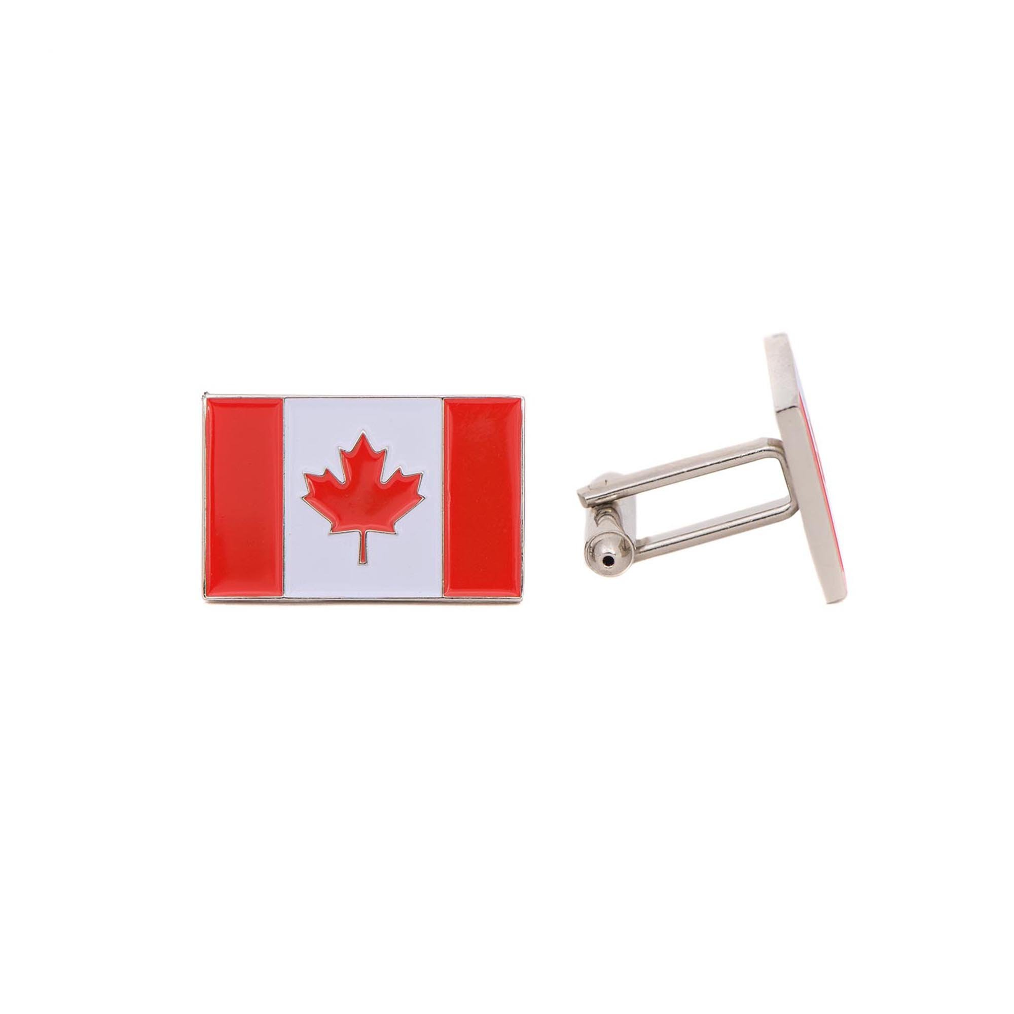 Desert Cactus Canada Rectangle Country Flag Cufflinks Formal Wear Blazer For French Cuff Shirt Canadian
