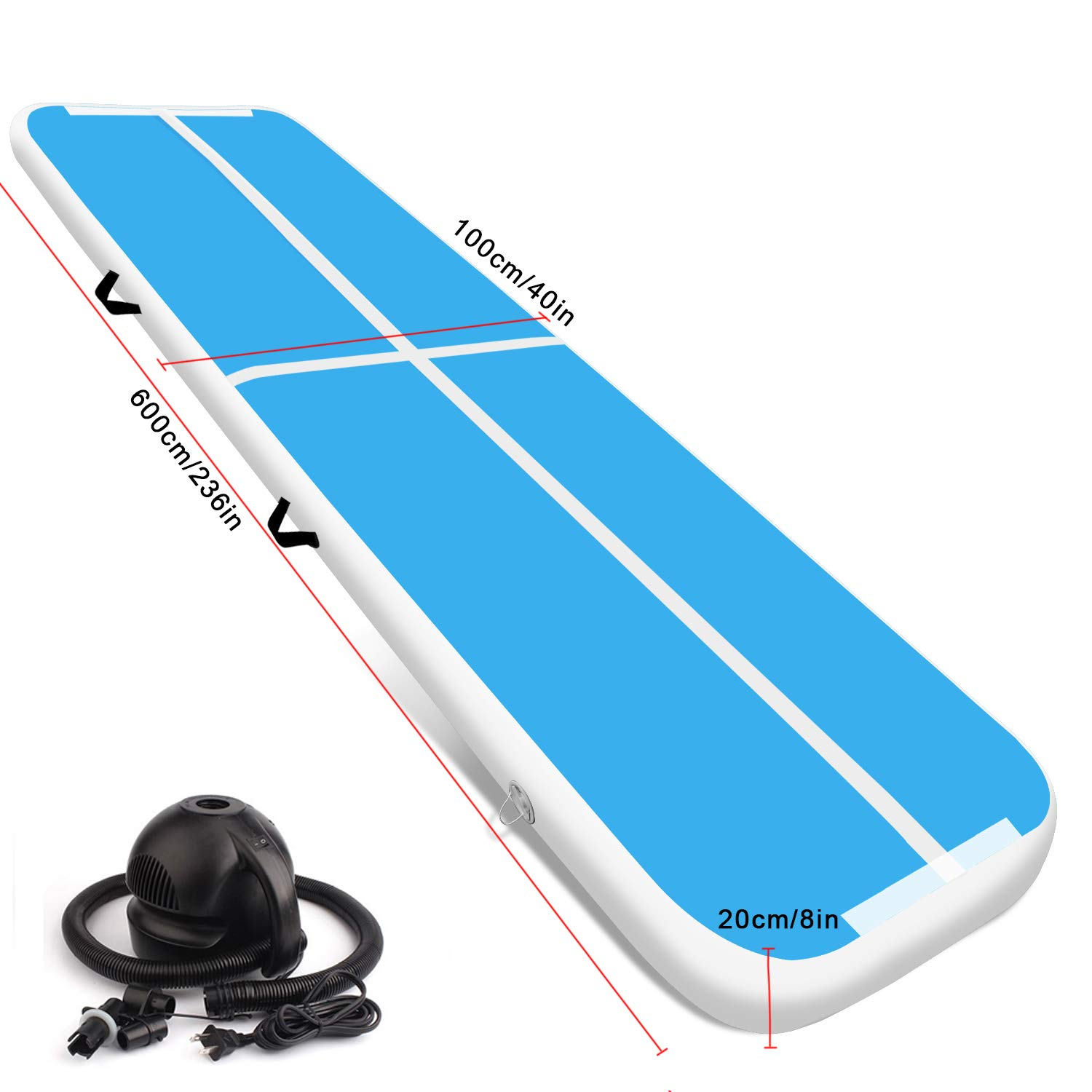 Airtrack 6M Air Track Floor Home Inflatable Gymnastics Tumbling Mat GYM