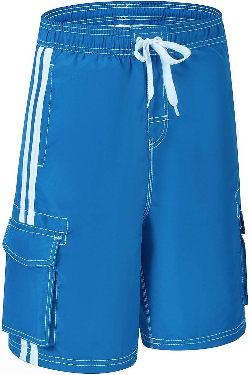 Akula Big Boys Quick Dry Beach Board Shorts Swim Trunk with Pockets