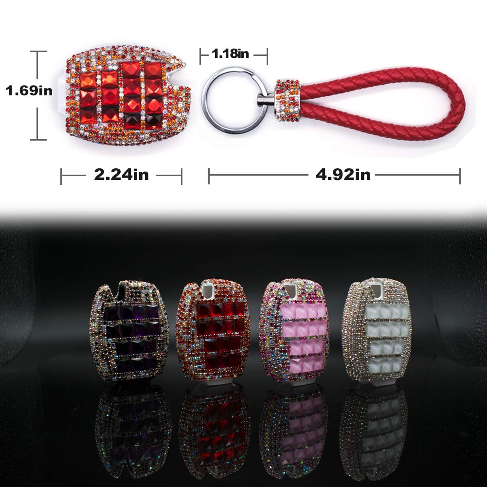 PGONE Car Key Case Key Shell Fob Key Cover Key Chain Lady Key Ring with Bling Diamond Crystals for Mercedes-Benz C E S M CLS CLK GLK GL Class 2//3-button Keyless Entry Remote Control Smart Key White