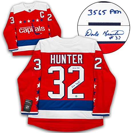 newest e41db bc6b9 Amazon.com : AJ Sports World Dale Hunter Washington Capitals ...