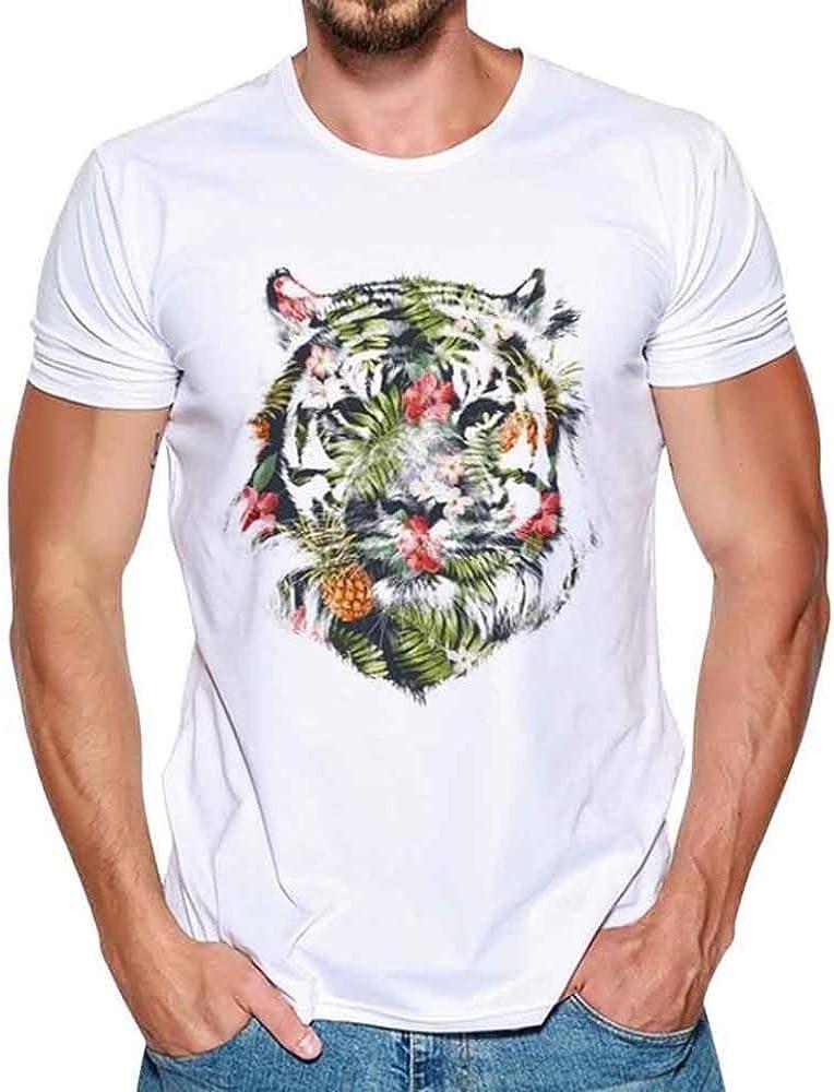 Camiseta para Hombre, ❤️Xinantime Hombres Que Imprimen la Camisa de Las Tees Blusa de Manga Corta para Hombres