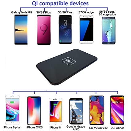 Amazon.com: Wireless Charger, Qi Wireless Fast Slim Charging Pad Station Mat 10W for Samsung Galaxy S10, S9, S8, S7, S6, Edge, Note 9 8, Nexus 5 6, ...