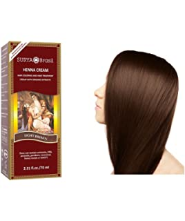 surya henna henna cream traitement et coloration des cheveux marron clair light - Henn Ou Coloration