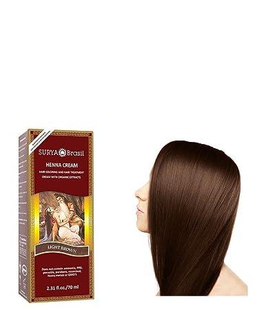 Amazon Com Henna Light Brown Cream Surya Nature Inc 2 31 Oz Cream