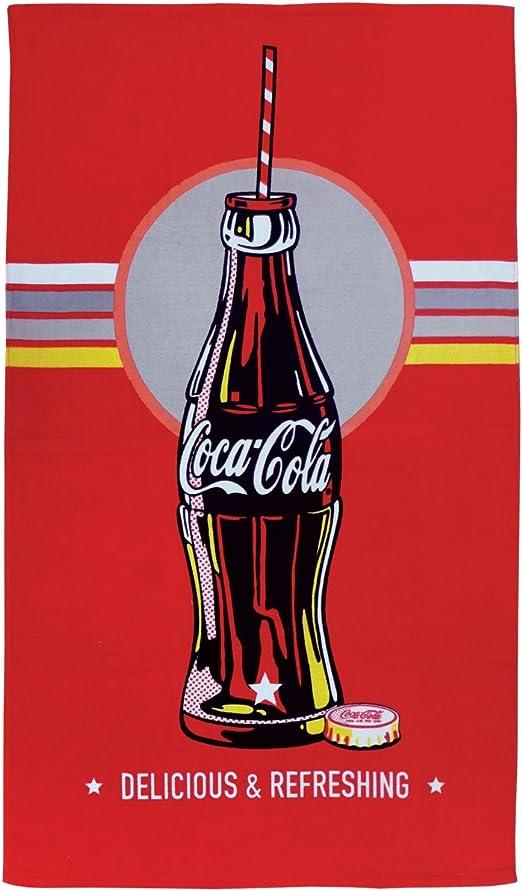 Color Rojo 70 x 120 cm Toalla de Playa CTI 043422 Coca-Cola Bottle