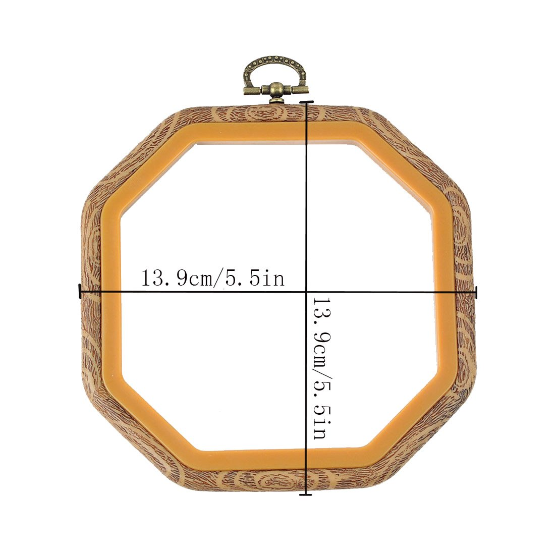 2 Pcs Octagon Embroidery Hoops Cross Stitch Hoop Bulk Imitated Wood
