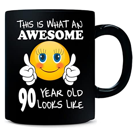 Emoji Birthday 90th Presents Woman 90 Year Old Gift